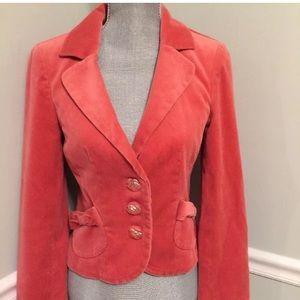 CLASSIQUES ENTIER Coral/pink velvet Jacket